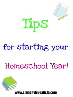 Starting Your Homeschooling Year