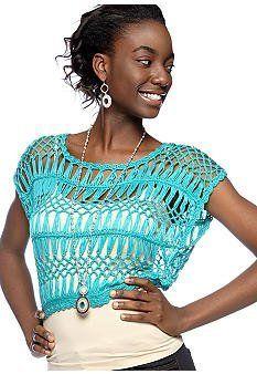 Say What? Juniors Crochet Crop Sweater (Small (3/5), Turquoise) Demanding, http://www.amazon.com/dp/B008IL7S62/ref=cm_sw_r_pi_dp_6Cwaqb0G5MB6X