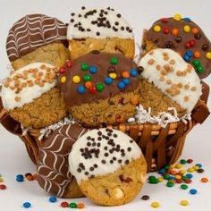COOKIE BOUQET | Chocolate Dipped Cookie Bouquet Basket