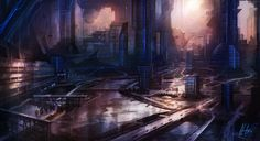 A bit Halo Reach inspired...a future metropolis, about 5 hrs time, CS6