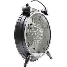 With terrific internal cog detail and a glossy black finish, this striking industrial wall clock pairs a sublime simplicity of style with superb surety of purpose.Visible internal x Cogs, Alarm Clock, Gears, Purpose, Industrial, It Is Finished, Detail, Creative, Wall
