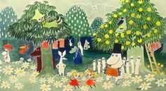 Finn Family MoomintrollTove Jansson #forest