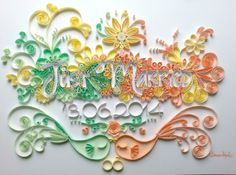 Just Married, gift for wedding, quilling by Tihana Poljak