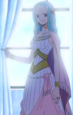Nefeltari Vivi is the princess of Alabasta. She is the daughter of Nefeltari Cobra and Titi. She was one of the main antagonists of the Reverse Mountain Arc under the Baroque Works codename Miss Wednesday, but she ended up traveling with the Straw Hat Pirates for most of the Alabasta Saga after revealing herself to be a spy plotting against Baroque Works. She has not been featured in the main story since the Straw Hats left Alabasta but has occasionally been shown to be keeping track of...