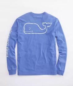 5dbbca4080b38d Vineyard Vines - L S Vintage Whale Graphic Pocket T-Shirt - Color    Wintermint
