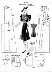 CD 91 Haslam Dresscutting PATTERNS DRAFTING 20s to 50s