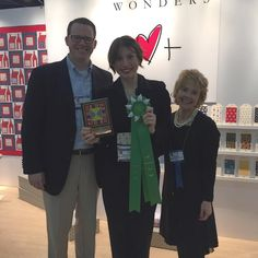Mary Fons (for Springs Creative) wins Best Booth Award for Merchandising! #quiltmarket