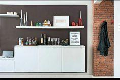 Armarios de cozinha na sala
