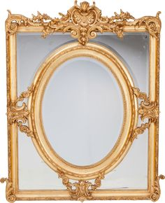French Louis XVI-Style Giltwood Wall Mirror, late 19th century.