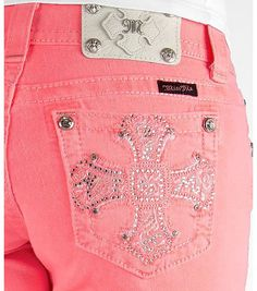 Pink colored Miss Me Jeans from Buckle