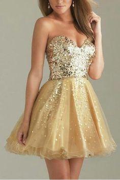 Gold Teen Dresses