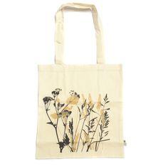 Organic cotton wildflower tote