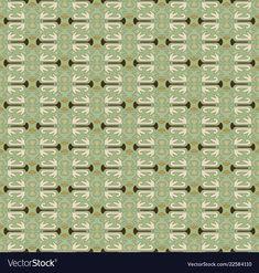 Decorative pattern in green vector image on VectorStock Japanese Patterns, Japanese Design, Adobe Illustrator, Design Elements, Vector Free, Pdf, Illustration, Green, Inspiration