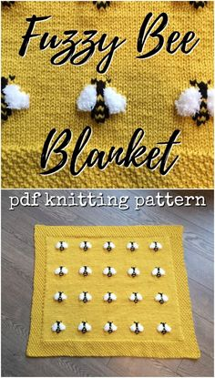 Adorable knitting pattern for this cute little Fuzzy Bee Blanket This would make a great baby shower gift knittingpattern knitting pattern babyblanketpattern babyblanket bees craftevangelist Baby Knitting Patterns, Free Knitting, Crochet Patterns, Knitting Ideas, Knit Blanket Patterns, Pillow Patterns, Crochet Baby, Knit Crochet, Crochet Projects