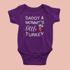 Daddy and Mommy Little Turkey Thanksgiving tee shirt sweater hoodie kids toddler clothes baby onesie Sweater Hoodie, Tee Shirt, Baby Onesie, Thanksgiving Turkey, Toddler Outfits, Tees, Shirts, Daddy, Hoodies