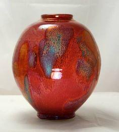 gordon hutchens art   Gordon Hutchens, Denman Island B.C. Canada, red ruby porcelain vase