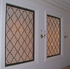 modern window bars | sf custom window grilles custom decorative window panels with tapered ...