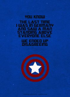 Captain America. I loved this line!
