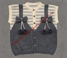 bebek yelekleri 34 - Pattern not in English, but a good graph diagram of pattern. Baby Knitting Patterns, Baby Boy Knitting, Knitting For Kids, Crochet For Kids, Free Knitting, Knit Crochet, Knitting Needles, Pull Bebe, Baby Pullover