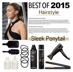 """""""Sleek Ponytail  #38"""" by vbasianioti ❤ liked on Polyvore featuring beauty, GHD, Sans [ceuticals], Living Proof and Wet Seal"""