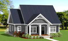 Cozy and Compact Cottage - 46312LA | 1st Floor Master Suite, CAD Available, Cottage, Northwest, PDF, Split Bedrooms | Architectural Designs