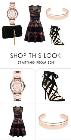 """templata :?"" by dark-soul-xd on Polyvore featuring Marc by Marc Jacobs, Nine West, Leith and Yves Saint Laurent"