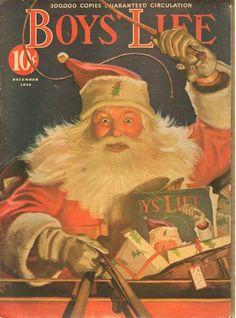Vintage Christmas Magazine ~ Boy's Life ©December,  1936