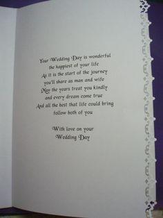 Verse Of Wedding Card