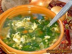 Ciorba de urzici New Recipes, Soup Recipes, Romania Food, Palak Paneer, Soul Food, Food To Make, Food And Drink, Yummy Food, Meals