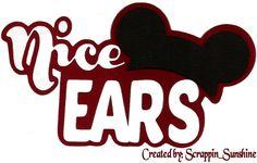 Disney Nice Ears Die Cut Title Scrapbook Page Paper Piece Ssffdeb | eBay