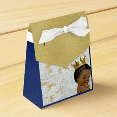 #shower - #African Prince Royal Baby Shower Favor tent box