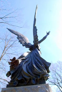 Green-Wood Cemetery Angel #2.                                                    Adolfo Apolloni, the sculptor of this angel