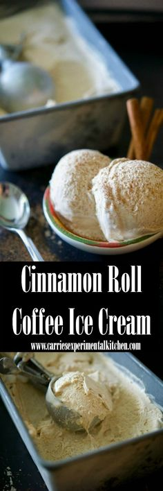 Cinnamon Roll Coffee Ice Cream made from natural ingredients like fresh brewed coffee, vanilla, cinnamon, sugar and heavy cream.
