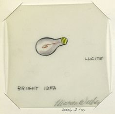Official Marion Weeber Welsh Drawing, Button Design: Bright Idea (Light Bulb)