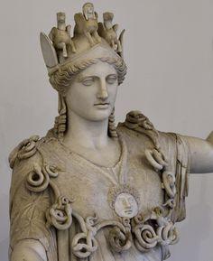 "Athena (so-called ""Athena Farnese""). Marble. Roman copy of a Greek original ca. 430 BCE (circle of Phidias). Inv. No. 6024. Naples, National Archaeological Museum"