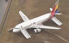 4 April 2015 - Asiana Airlines Flight 162, an Airbus A320-232 aircraft touched down short of the runway, struck the localizer array, skidded onto the runway on its tail, and spun 120 degrees before finally coming to a rest on the grass, opposite the terminal building. The aircraft suffered substantial damage to the left wing and engine. Of the 82 people aboard, 27 (25 passengers and two crew) were injured, one seriously.