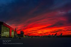 Sunset on the Delta Air Lines maintenance ramp by RobertCoakley