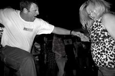 Great shot of couple dancingat Daytona Beach, Florida #street