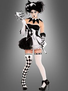 <img> Harlequin at Costume Halloween, Halloween Circus, Halloween Outfits, Halloween Party, Dance Outfits, Cool Outfits, Circus Fashion, Traje Casual, Halloween Karneval