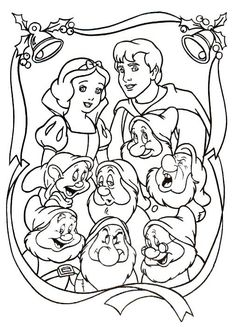 Snow White and The Seven Dwarfs is a Disney movie. It's the first full length Disney movie ever made, and the first full length t. Princess Coloring Sheets, Disney Coloring Sheets, Disney Princess Coloring Pages, Disney Princess Colors, Disney Colors, Cartoon Coloring Pages, Coloring Pages To Print, Colouring Pages, Printable Coloring Pages
