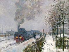 Le train dans la neige. La locomotive