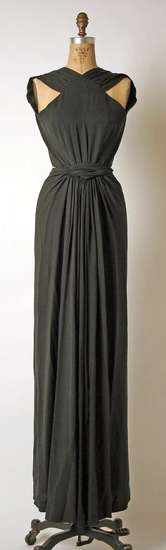Madame Grès silk evening gown, 1970's