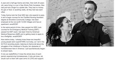 If only we reallyREALLY knew the whole story of each person experiencing homelessness, if only we knew, we would rush to them with open arms of LOVE and support. Karina&Alex you both are so BEAUTIFULLY AMAZING in your journey together; my life is so richer for knowing you two. From everyone in this community, we loveLOVE you!!!