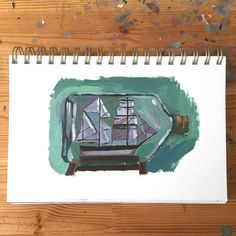 a tiny rocket: Making Art Everyday in 2015 // Day 259
