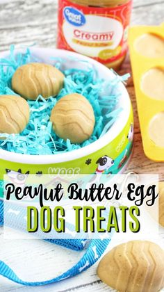 Peanut Butter Easter Egg Treats for Dogs - homemade dog treats