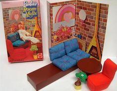 BARBIE vintage Room Fulls-Firelight living room.