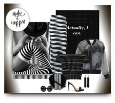 """""""Dark Lady in Lines"""" by michelletheaflack ❤ liked on Polyvore featuring STELLA McCARTNEY, 3.1 Phillip Lim, Alexander McQueen, Paco Rabanne, Linda Farrow, Tom Ford and black"""