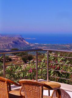 Vivid Mediterranean blue sea