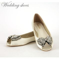 Wedding Shoes Bridal Flat Shoes Women Dress Prom Party Ballet Shoes 3 Types | eBay