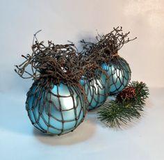 Beach Ornament, Nautical Bowl Filler, Fishing Float Ornament, Coastal Home Decor #coastalChristmas
